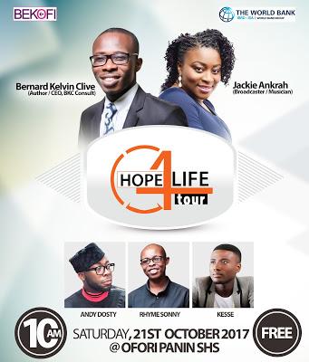 Jackie Ankrah, Bernard Kelvin Clive To Speak At 5th Edition of Hope 4 Life Tour