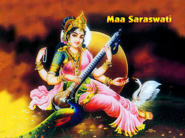 Goddess Saraswati Mata HD Wallpapers for Vasant Panchami Download