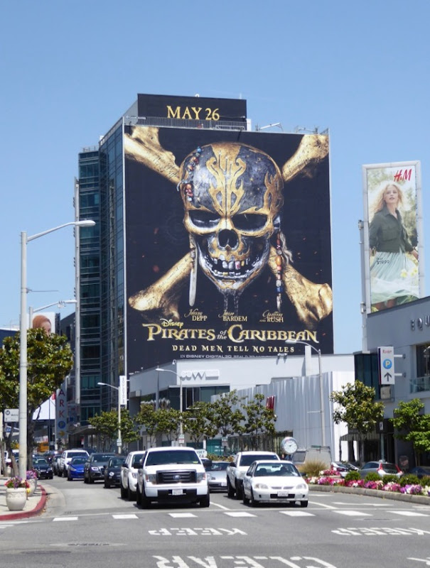 Pirates Caribbean Dead Men movie billboard