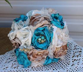 fabric brooch bouquet