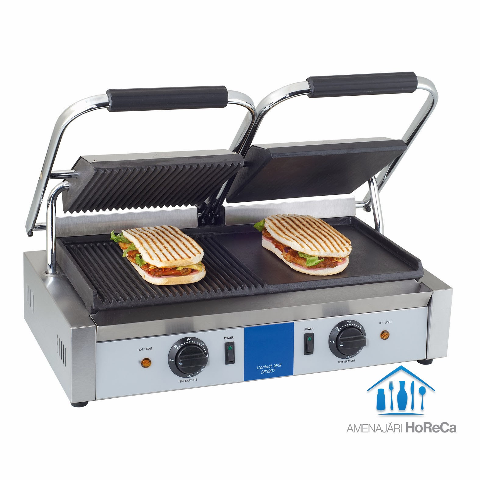 Grill electric profesional, model dublu, grill electic profesional