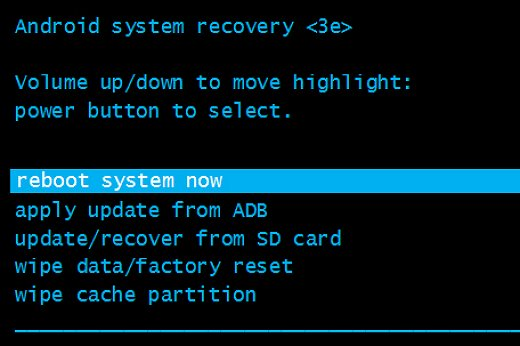 Reboot System Now Recovery