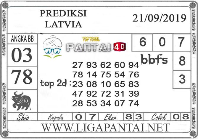 "PREDIKSI TOGEL ""LATVIA"" PANTAI4D 21 SEPTEMBER 2019"
