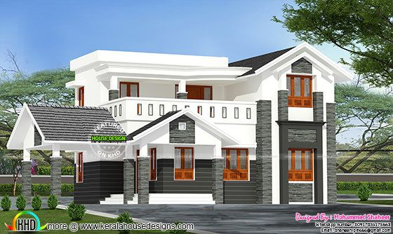 2200 sq-ft modern Kerala home