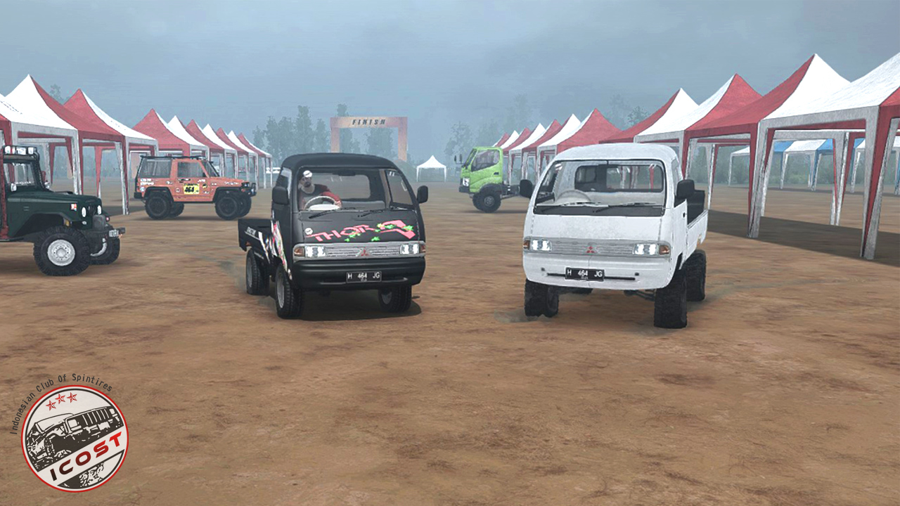 Mudrunner mod mitsubishi colt t120ss pick up for Garage auto galon