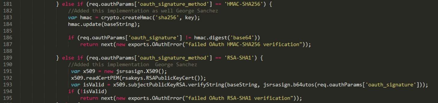 OAuth 1 0a Request Signing and Verification - HMAC-SHA1