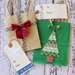 Washi Tape Gift Tags Bags