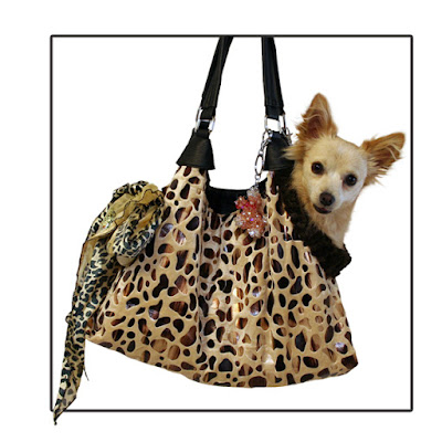 Tan with Animal Foil RunAround Pet Carrier Tote $93.00