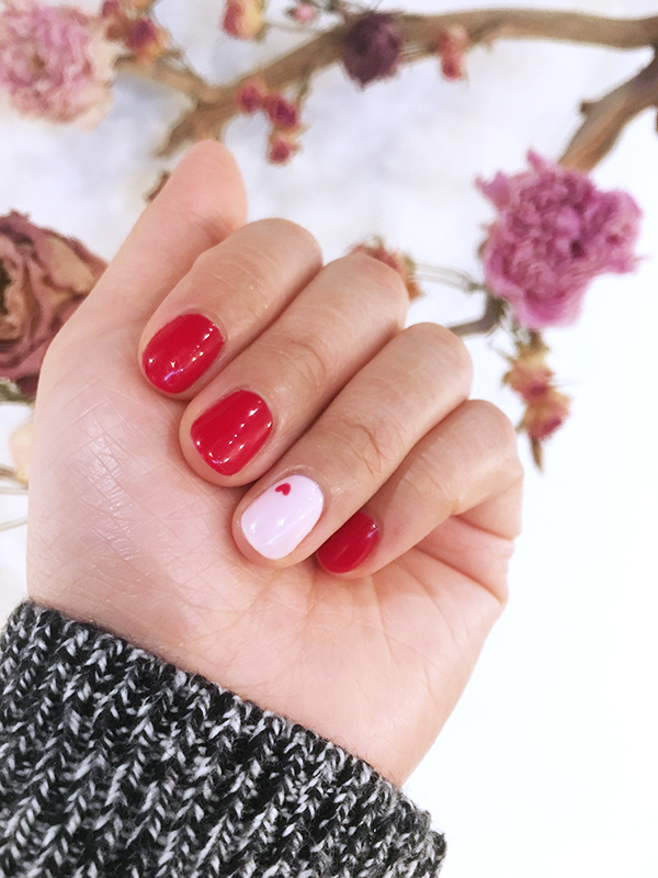 Valentines Day-inspired gel manicure from Lily & Roo Vancouver