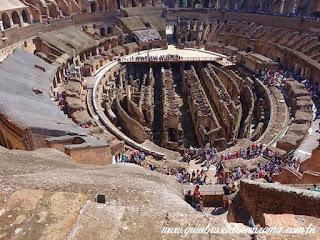 interior coliseu vista terceiro anel turismo italia - Os subterrâneos do Coliseu