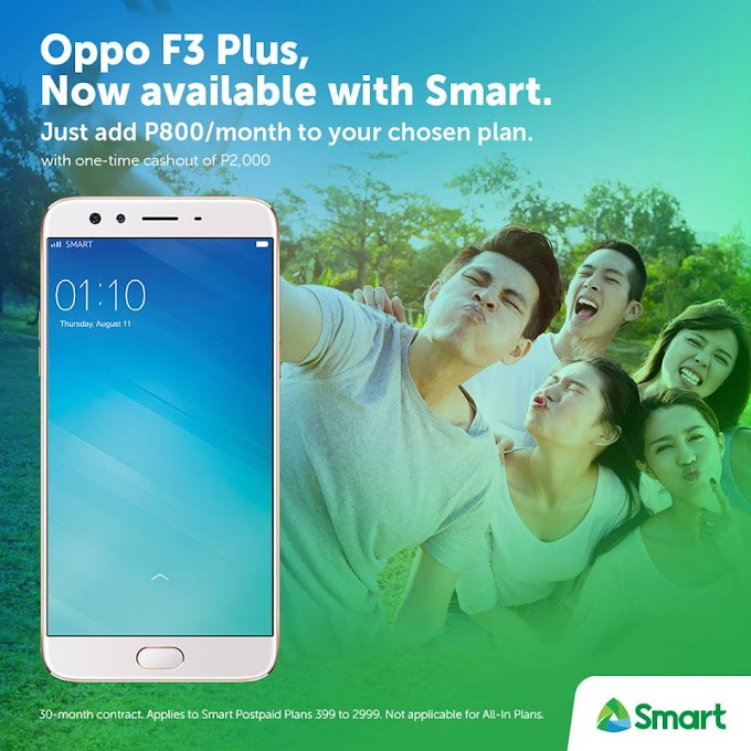 Oppo F3 and F3 Plus Can Now Be Availed Through Smart Post-Paid Plans