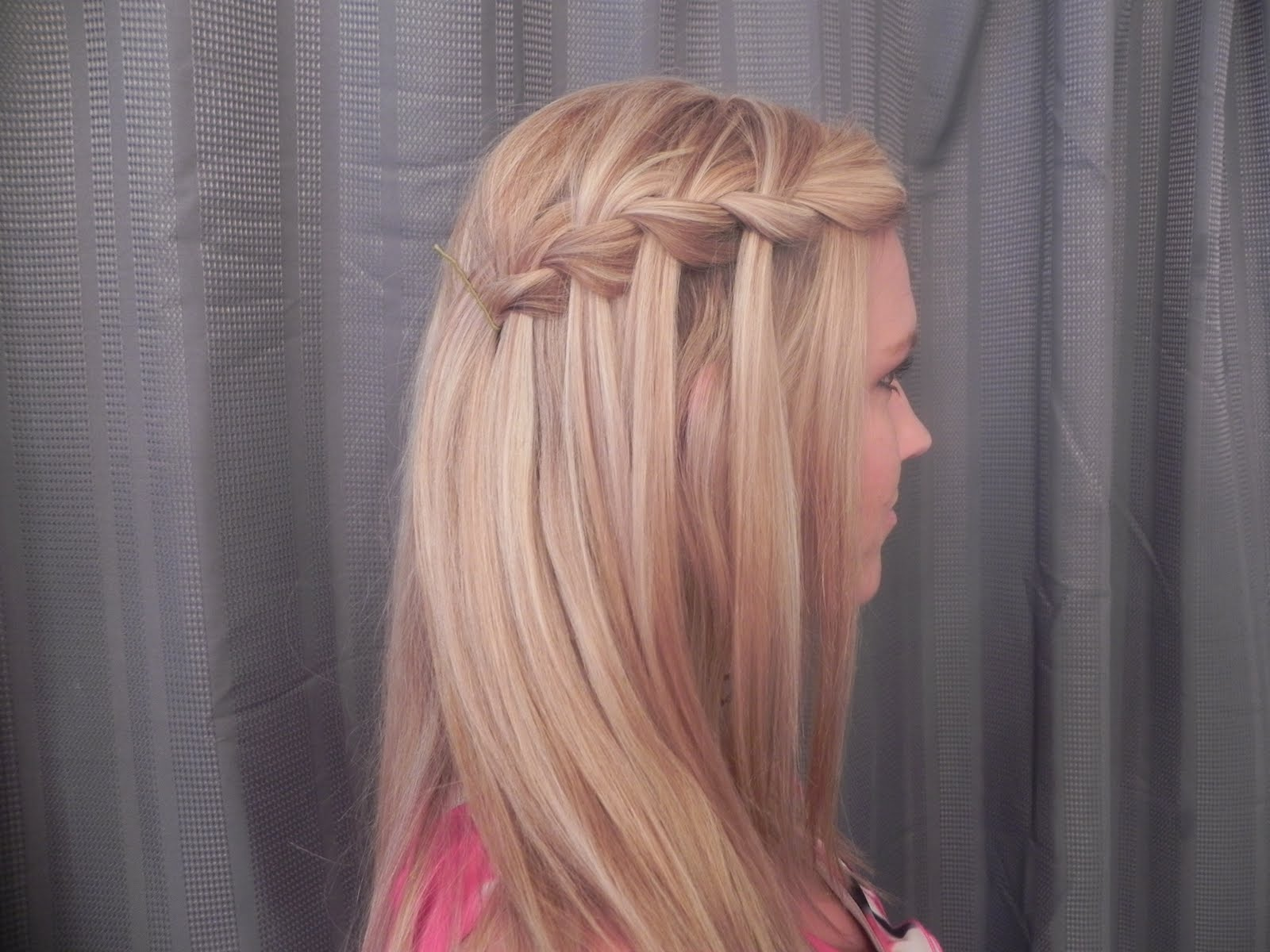 quot  She posted about a hair style called the quot waterfall braid. 1600 x 1200.Hairstyles Braids Children