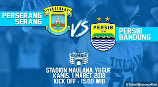 Persib Bandung Lanjutkan Uji Coba Melawan Perserang Banten Kamis 1 Maret 2018