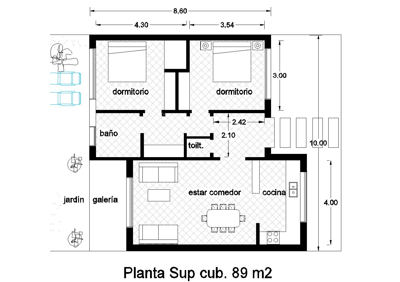 Best disenos 42 metros cuadrados for Diseno de casa de 300 metros cuadrados