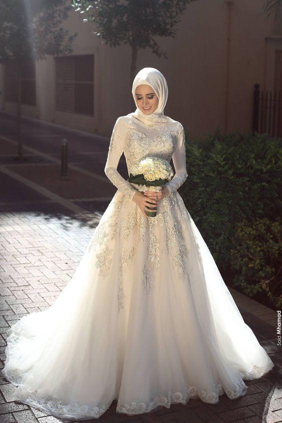 47 Model Gaun Pengantin Muslim Sederhana Dan Mewah 2019 Model