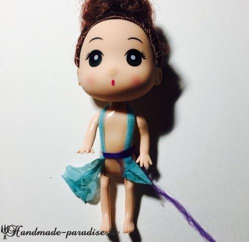 Наряд ФЕИ из капрона и проволоки для куклы (9)