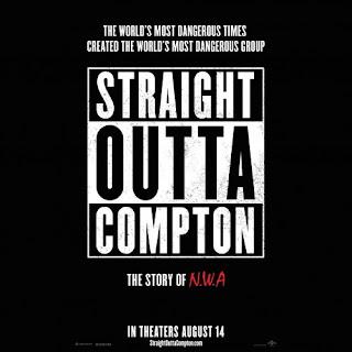 Poster de la película que cuenta la historia de la mítica agrupación NWA, puedes ver o descargar la películas o descargar straight Outta Compton soundtrack.