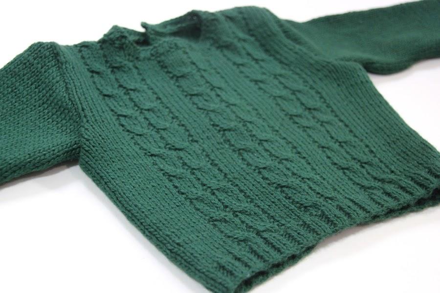 Tutorial y patrones gratis Jersey de ochos para bebé