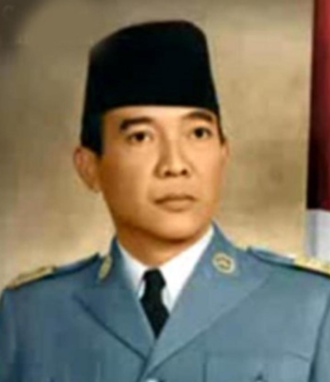 Presiden Soekarno berwarna