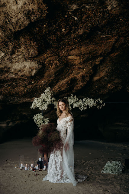 CAVES BEACH STYLED SHOOT VINTAGE WEDDINGS BOHO BRIDE