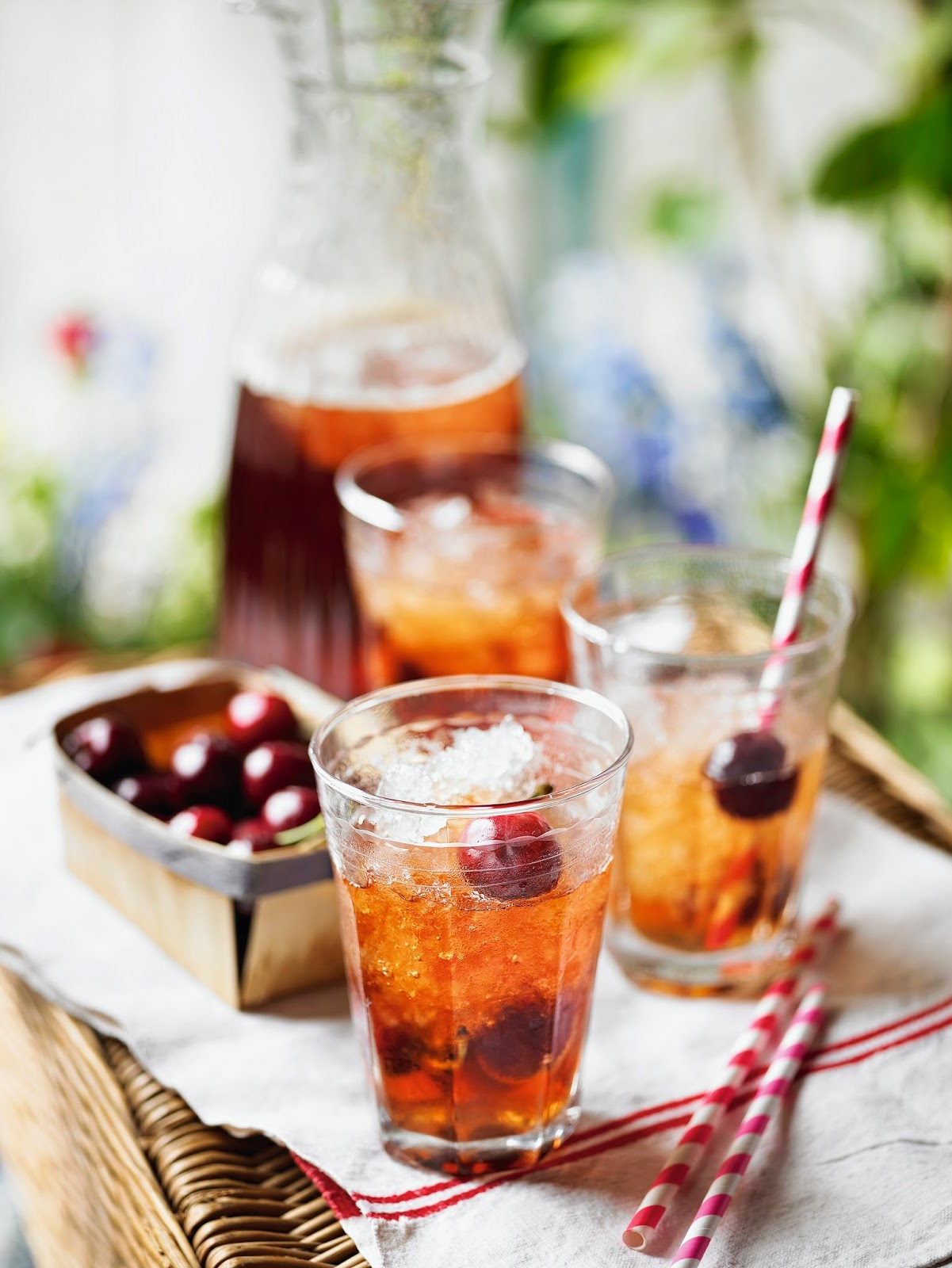 Cherry Pimm's Punch: Great For Summer Nights & BBQ's