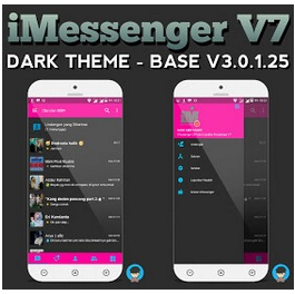 BBM Mod iMessenger V7 Dark Theme - Based Official 3.0.1.25 Apk
