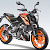 KTM 125 Duke Bike  launched at cost of Rs 1.18 lakh