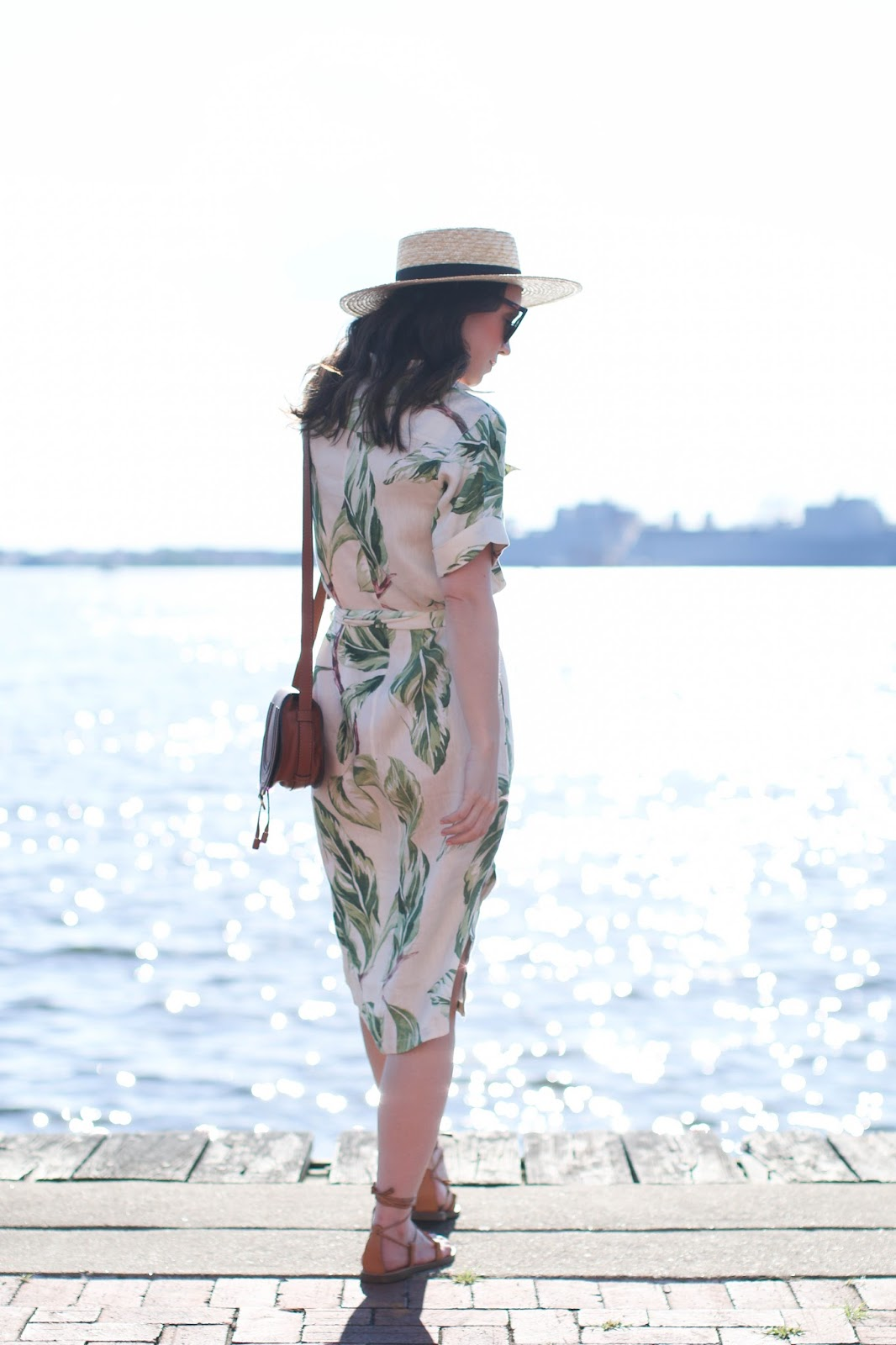 Ann Taylor leaf print dress