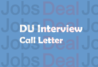 DU Professor Interview Call Letter 2017