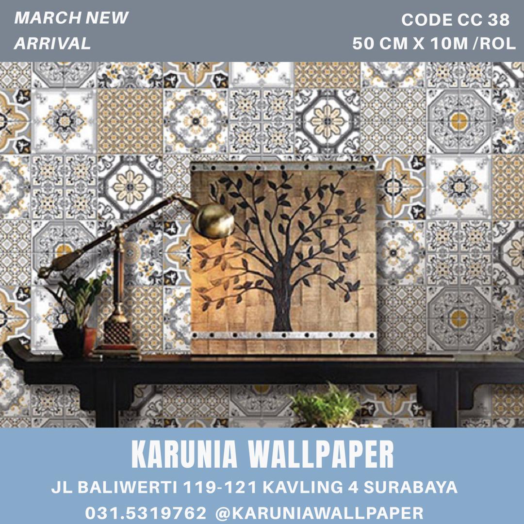 jual dinding wallpaper batik surabaya