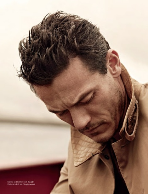 Luke Evans by John Balsom for Man of The World