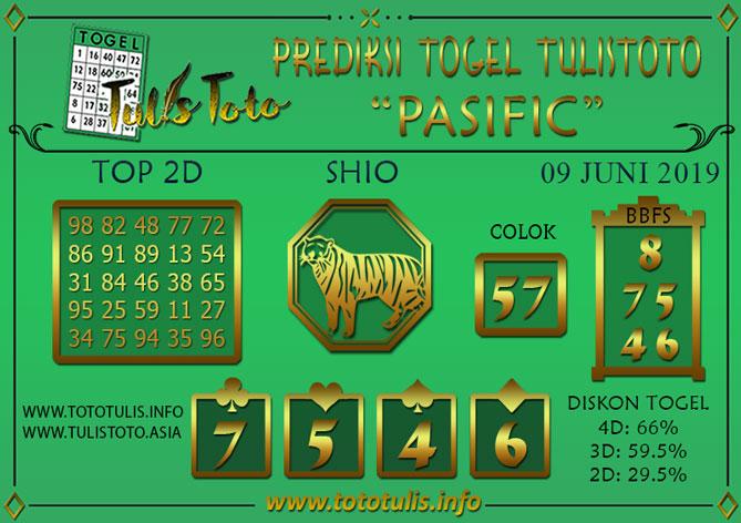 Prediksi Togel PASIFIC TULISTOTO 09 JUNI 2019