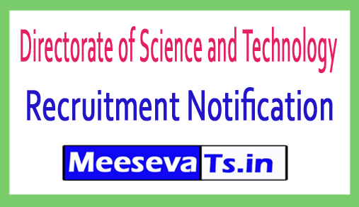 Directorate of Science and Technology DST Recruitment