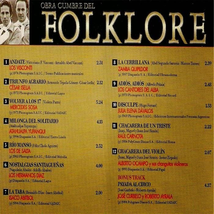 obras cumbres del folklore