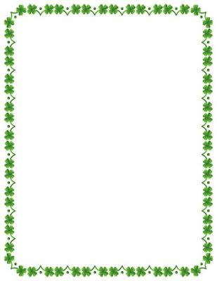 St Patrick's day clip art borders