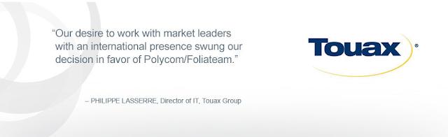 Giải pháp hội nghị truyền hình Polycom với Touax