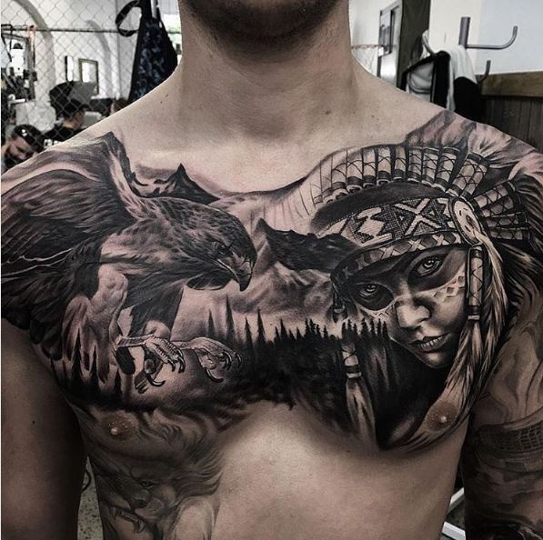 Best Chest Tattoos: Top 51 Best Chest Tattoos For Men (2017)