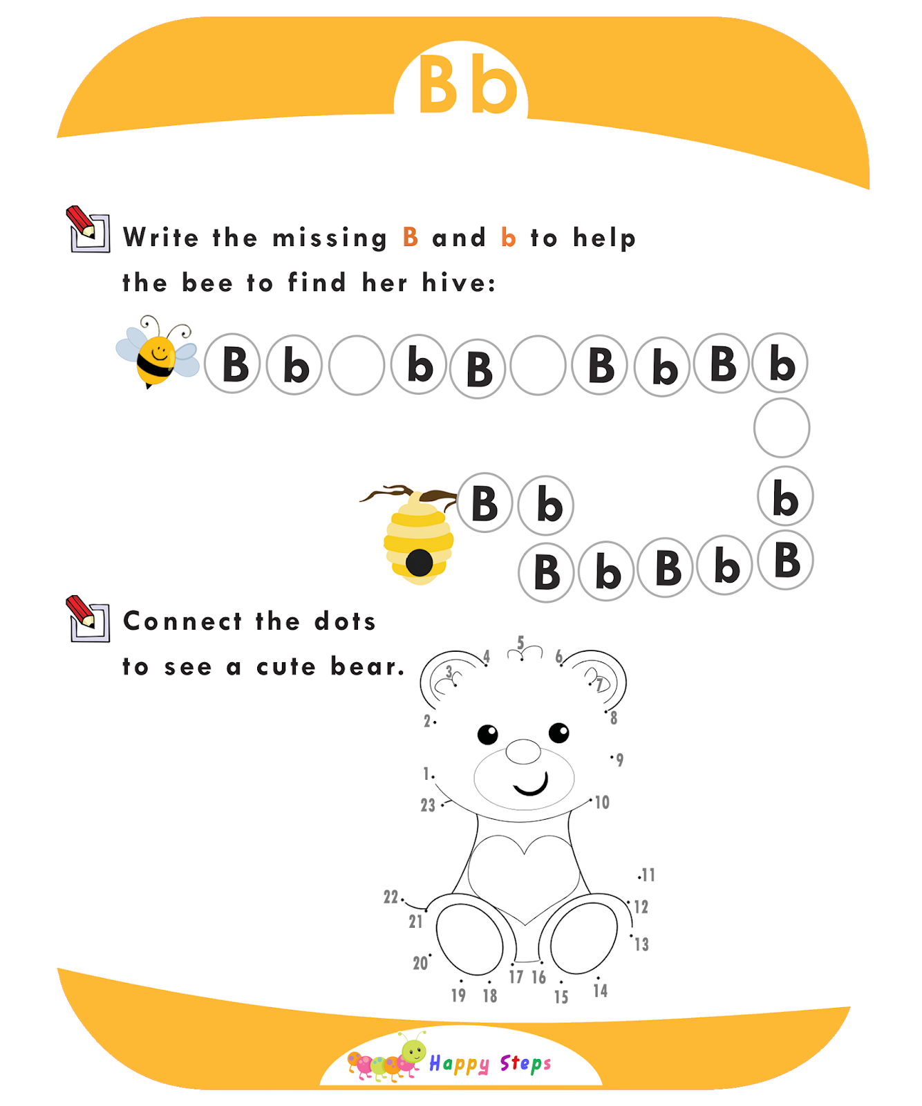 Letter B Worksheet Number 3