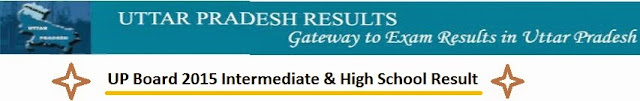 UP Board 2015 Intermediate & High School Result