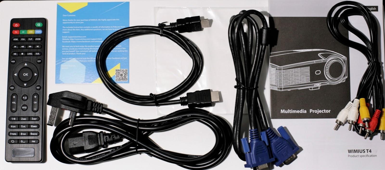Wimius T4 3200 Lumen 1280 800 Projector Review