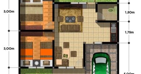 denah rumah 2 kamar ukuran 7x9 - berbagai ukuran