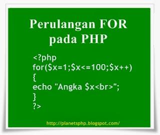 sudah sangat lama saya tidak membuat postingan baru pada blog kesayangan kita ini karena  Tutorial PHP : Penggunaan Perulangan FOR pada PHP