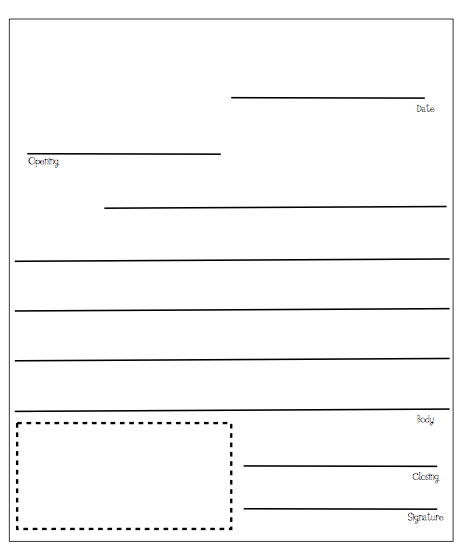 writing a letter template 2nd grade