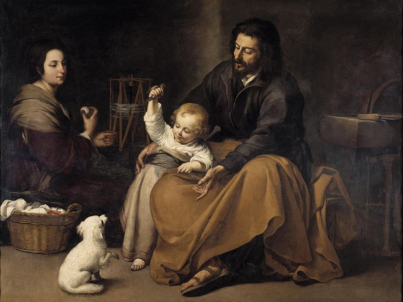 The Holy Family with dog, c. 1645–50