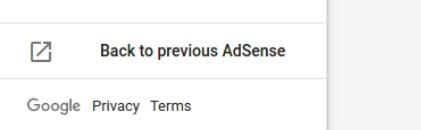 AdSense dashboard