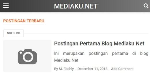 Tampilan Mediaku