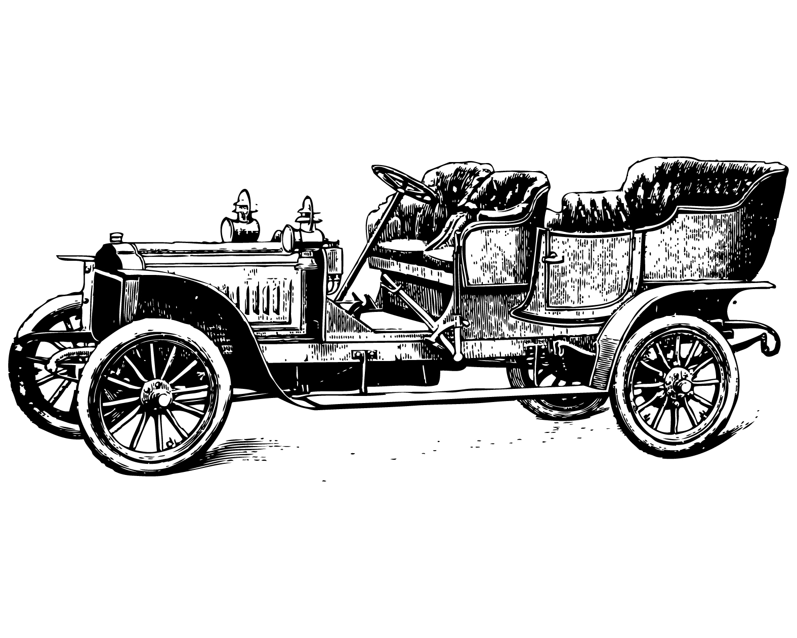 Free vintage clip art images: Vintage cars and coaches ...
