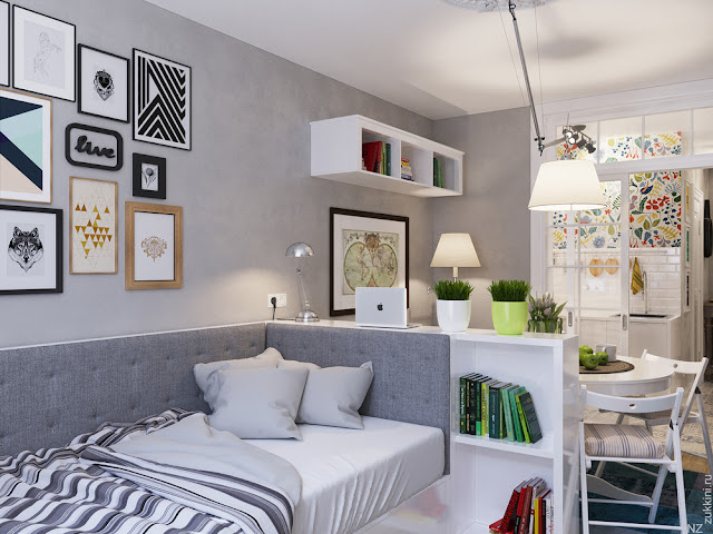 La estupenda decoración de un pequeño apartamento de 25 m2