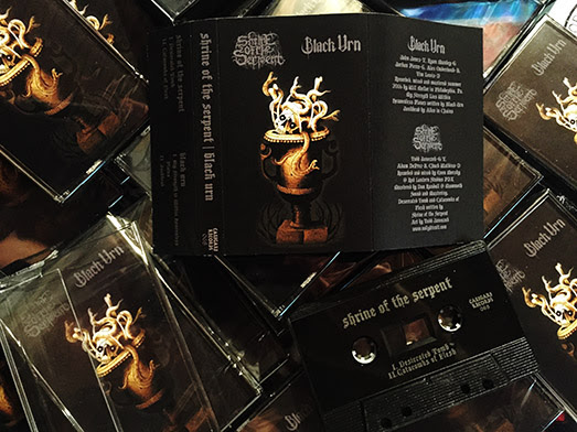 SHRINE OF THE SERPENT / BLACK URN - Split - Out Now On Tape