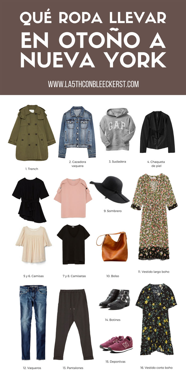 El tiempo en Nueva York que ropa llevar en otoño